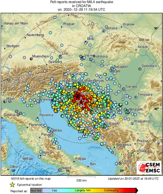 6 4 Earthquake Struck Croatia Near Zagreb Spacebattles Forums