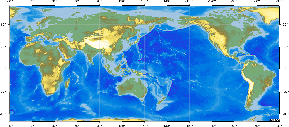 Earthquake/Tsunami map